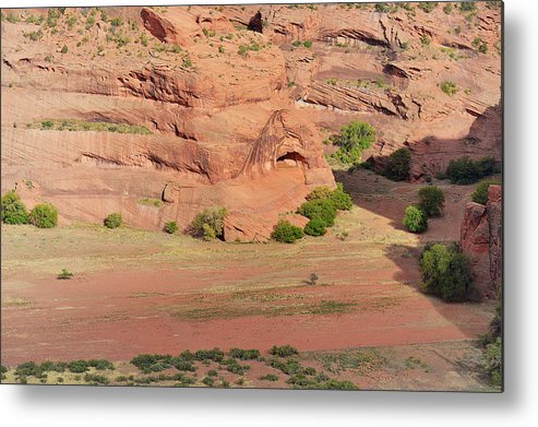 Canyon Metal Print featuring the photograph Canyon De Chelly From White House Ruins Trail by Christine Till