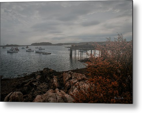 Kennebunk Metal Print featuring the photograph Cape Porpoise Fog Rolls In by Bob Orsillo