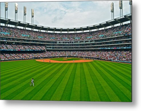 Centerfield Metal Print featuring the photograph Center Field by Frozen in Time Fine Art Photography