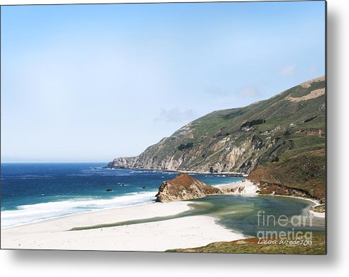 Big Sur Metal Print featuring the photograph Central Coast Beach Near Cambria And San Simeon by Artist and Photographer Laura Wrede