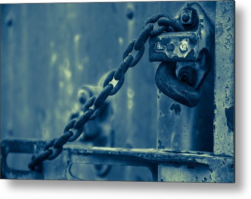 Train Metal Print featuring the photograph Chained And Moody by Toni Hopper