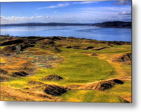 Chambers Bay Golf Course Metal Print featuring the photograph Chambers Bay Golf Course II by David Patterson