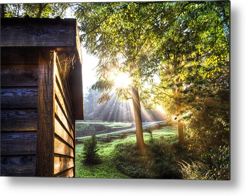 Andrews Metal Print featuring the photograph Charlotte's Web by Debra and Dave Vanderlaan