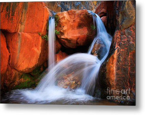 America Metal Print featuring the photograph Clear Creek Falls by Inge Johnsson