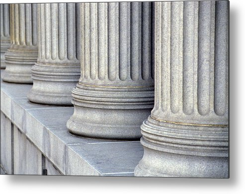 Columns Metal Print featuring the photograph Columns by Jon Neidert