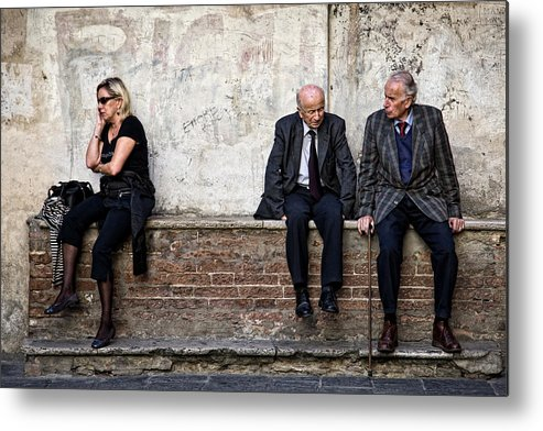 Street Photography Metal Print featuring the photograph Communication by Dave Bowman