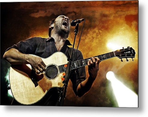 Dmb Metal Print featuring the photograph Dave Matthews Scream by The Vault - Jennifer Rondinelli Reilly