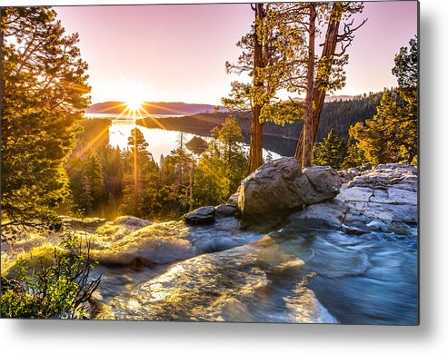 California Metal Print featuring the photograph Eagle Falls Emerald Bay Lake Tahoe Sunrise First Light by Scott McGuire