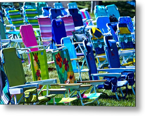Empty Metal Print featuring the photograph Empty Chairs by Garry Gay