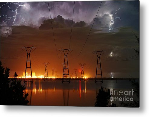 Lightning Metal Print featuring the photograph Florida Power And Lightning by Lynda Dawson-Youngclaus
