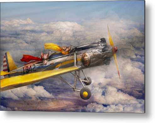 Pig Metal Print featuring the photograph Flying Pig - Plane - The Joy Ride by Mike Savad