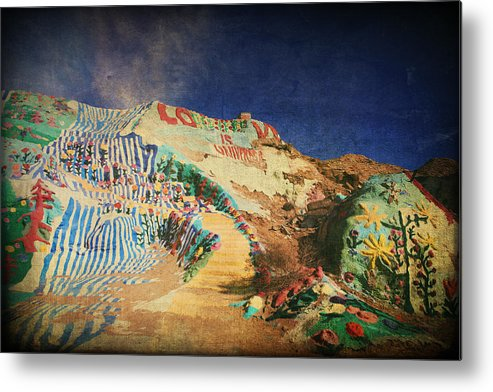 Salvation Mountain Metal Print featuring the photograph Follow The Yellow Brick Road by Laurie Search