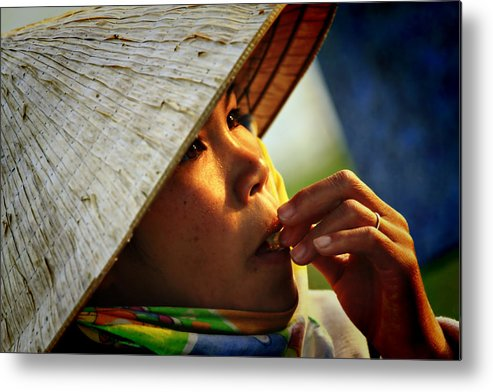 Girl Metal Print featuring the photograph For Survival by Suradej Chuephanich