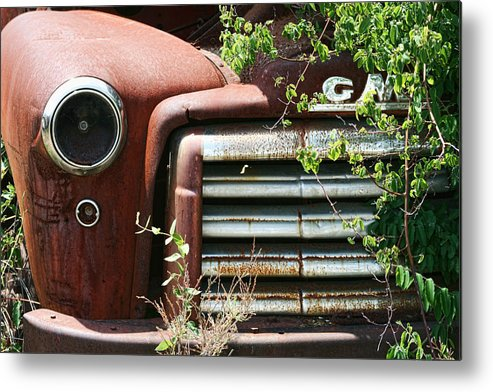 Gmc Metal Print featuring the photograph Gmc Grill Work by Kathy Clark