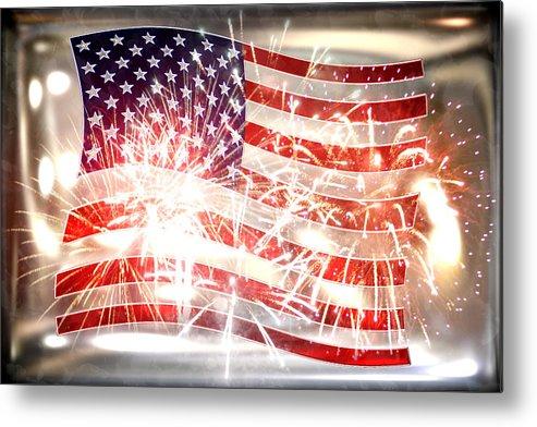 Declaration Of Independence Metal Print featuring the photograph Happy Birthday America by Li  van Saathoff