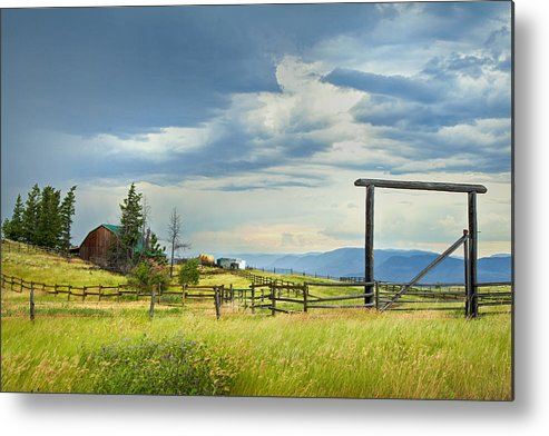 British Columbia Metal Print featuring the photograph High Country Farm by Theresa Tahara