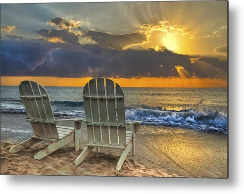 Zen Metal Print featuring the photograph In The Spotlight by Debra and Dave Vanderlaan