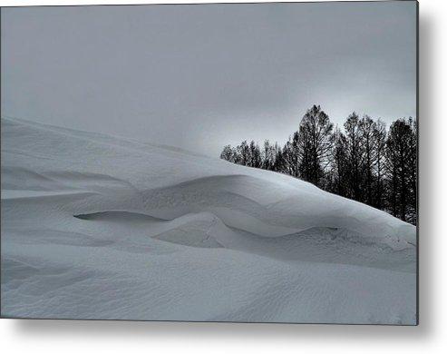 Snow Drifts Metal Print featuring the photograph Indiana Drifter by Julie Dant