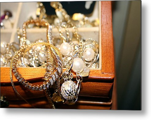 Jewelry Metal Print featuring the photograph Jewelry Collections by Ester Rogers