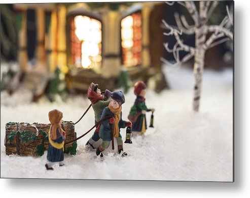 Christmas Cards Metal Print featuring the photograph Journey Home by Caitlyn Grasso