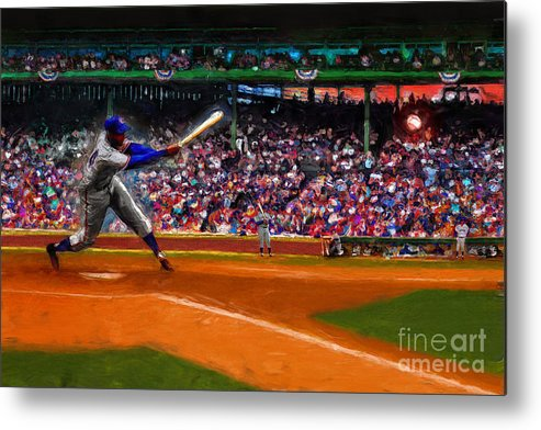 Cubs Metal Print featuring the digital art Let's Play Two by Alan Greene