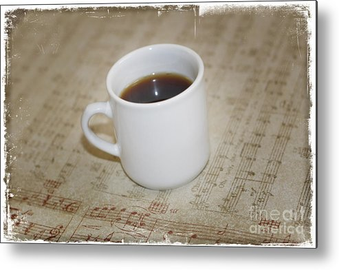 Love Coffee And Music Metal Print featuring the photograph Love Coffee And Music by Nina Prommer