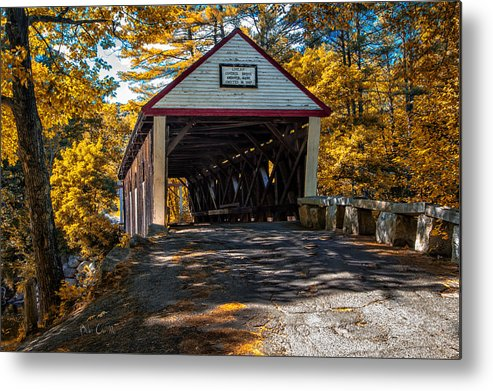 Covered Bridge Metal Print featuring the photograph Lovejoy Covered Bridge by Bob Orsillo