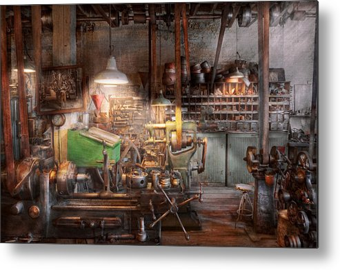 Machinist Metal Print featuring the photograph Machinist - It All Starts With A Journeyman by Mike Savad