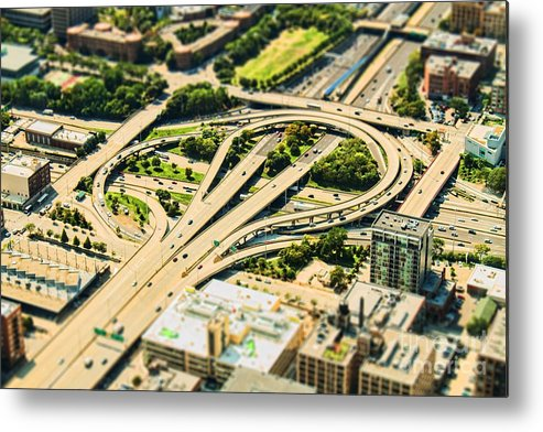 Road Metal Print featuring the photograph Mini Motorway by Andrew Paranavitana