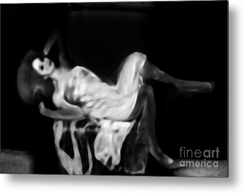 Black Metal Print featuring the photograph Miss Shapen Chase by Jessica Shelton