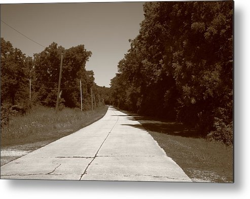 66 Metal Print featuring the photograph Missouri Route 66 2012 Sepia. by Frank Romeo