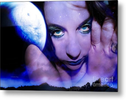 This Image Is  Heather King. You May Not Use This Or Any Of My Images (in Whole Or In Part). All Rights Reserved. Metal Print featuring the photograph Moon Intoxication by Heather King