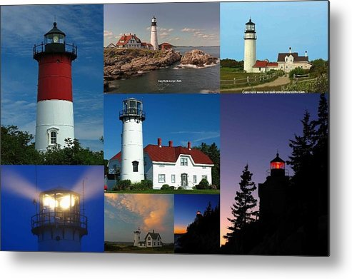 Lighthouse Metal Print featuring the photograph New England Lighthouse Collection by Juergen Roth