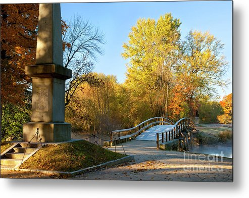 Concord Metal Print featuring the photograph Old North Bridge by Brian Jannsen