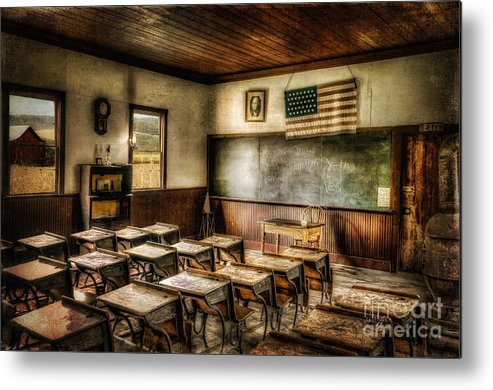 School Metal Print featuring the photograph One Room School by Lois Bryan