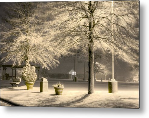 Blizzard Metal Print featuring the photograph Peaceful Blizzard by JC Findley