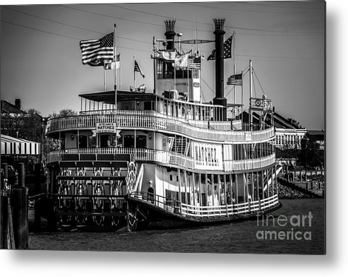 America Metal Print featuring the photograph Picture Of Natchez Steamboat In New Orleans by Paul Velgos