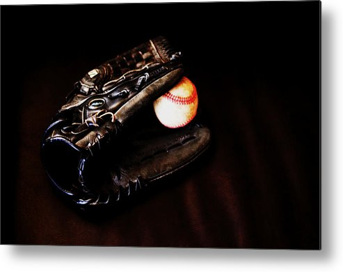 Baseball Metal Print featuring the photograph Play Ball Fine Art Photo by Jon Van Gilder