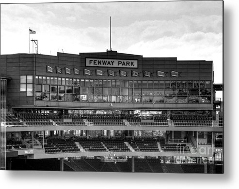 Fenway Park Metal Print featuring the photograph Press Box by Jonathan Harper