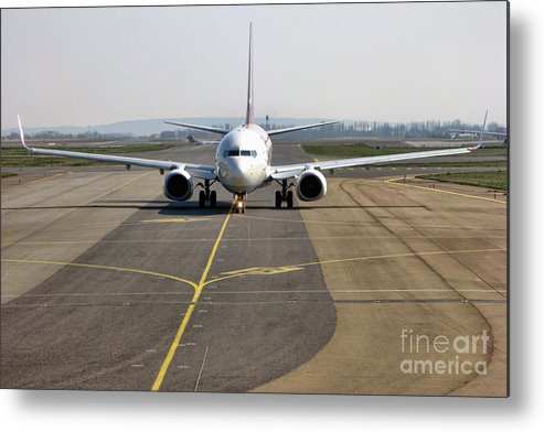 Plane Metal Print featuring the photograph Ready For Take Off by Olivier Le Queinec