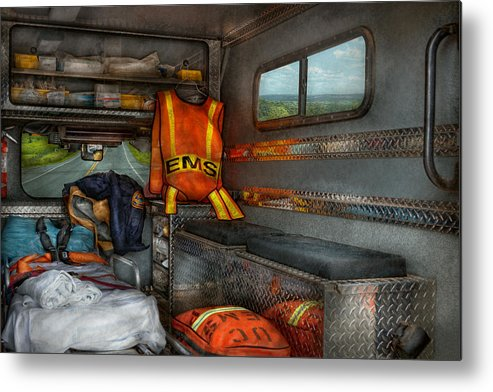 Rescue Metal Print featuring the photograph Rescue - Emergency Squad by Mike Savad