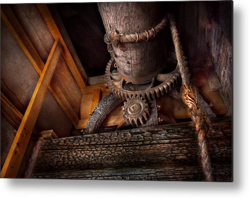 Savad Metal Print featuring the photograph Steampunk - Gear - Out Of Order by Mike Savad