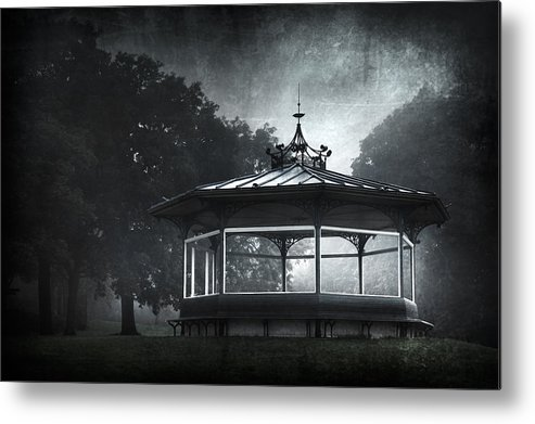 Abandoned Metal Print featuring the photograph Storytelling Gazebo by Svetlana Sewell