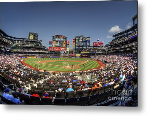 Citi Field Metal Print featuring the photograph Take Me Out To The Ballgame by Evelina Kremsdorf