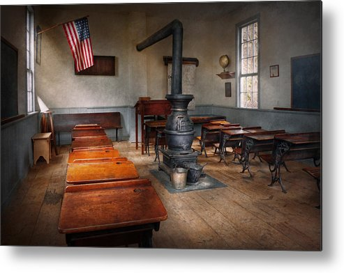 Teacher Metal Print featuring the photograph Teacher - First Day Of School by Mike Savad