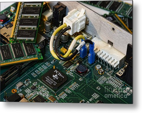 Board Metal Print featuring the photograph Technology - The Motherboard by Paul Ward