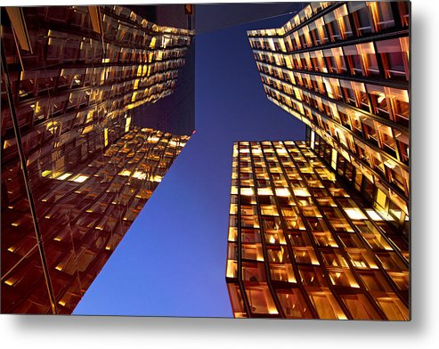 Architectur Metal Print featuring the photograph The Dancing Towers by Marc Huebner