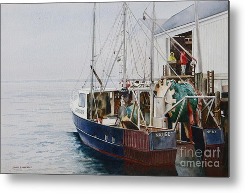 Fog Metal Print featuring the painting The Dragger by Karol Wyckoff