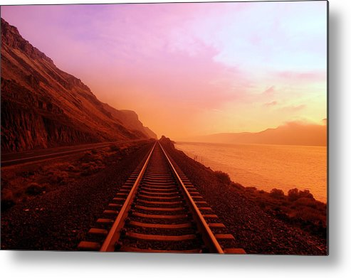 Columbia River Metal Print featuring the photograph The Long Walk To No Where by Jeff Swan