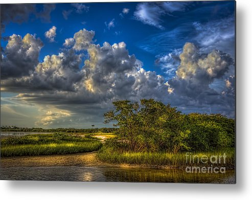 Clouds Metal Print featuring the photograph Tide Water by Marvin Spates